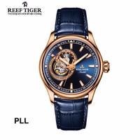 REEF TIGER RGA1639 トゥールビヨン 自動巻き 腕時計 メンズ 機械式  革バンド 10色展開