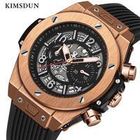 KIMSDUN メンズ 自動巻腕時計 機械式 42mm シリコンストラップ 新作 8カラー