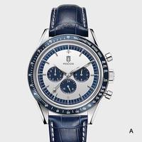 ROCOS メンズ自動巻腕時計 スピードマスターオマージュモデル シーガル1654ムーブ