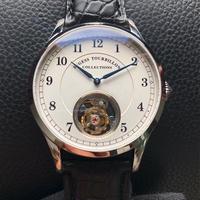 SUGESS メンズ 手巻き腕時計 トゥールビヨン ST800 シルバー/ローズゴールド