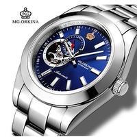 MG.ORKINA メンズ 自動巻腕時計 316Lステンレス 全6カラー