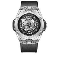 ONOLA メンズ クォーツ腕時計 ビッグ・バン  サンブルースタイル シルバー/ローズゴールド
