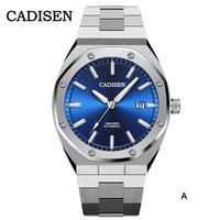 CADISEN メンズ 自動巻腕時計 日本製NH36Aムーブ 100m防水 選べる8モデル