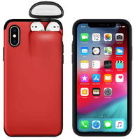 2in1 AirPodsが収納できるiPhoneケース iPhone 11 Pro Max~iPhone 6対応 選べる6カラー