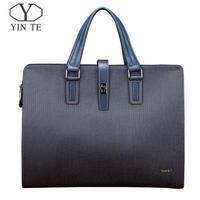 YINTE メンズ ビジネスバッグ ハンドバッグ ブルー