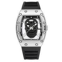 KIMSDUN メンズ クォーツ腕時計  スカル ドクロモデル 全5色