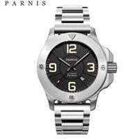Parnis 自動巻 47mm メンズ腕時計 ミリタリーウォッチ サファイアクリスタル デカ厚