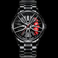 NEKTOM ホイールデザイン腕時計 レッド/イエローキャリパー