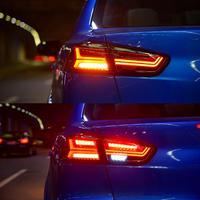 ランエボ10 LEDテールランプ スモーク/レッド 左右セット 流れるウインカー シーケンシャル 社外