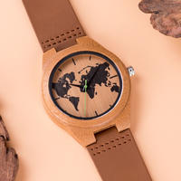 BOBO BIRD ボボバード 竹製腕時計 地球儀柄