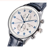 HOLUNS メンズ クォーツ腕時計 ポルトキーゼスタイル レザーストラップ 全5カラー サファイア風防