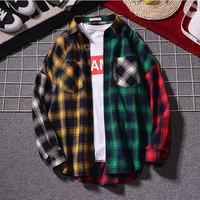 メンズ チェックシャツ クアッドカラー ジャケット