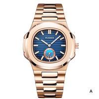PLADEN メンズ クォーツ腕時計 ノーチラスオマージュモデル ローズゴールドシリーズ