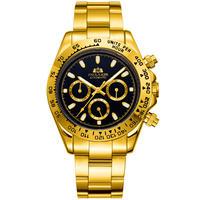 PAULAREIS メンズ 自動巻腕時計 コスモグラフデイトナオマージュモデル ゴールドシリーズ