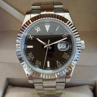 GEERVO メンズ 自動巻腕時計 40mm サファイアクリスタル風防 ロゴなし ブラックダイヤル