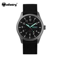 INFANTRY メンズ クォーツ腕時計 日本製ムーブ搭載 ミリタリースタイル
