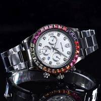 SOUTHBERG メンズ クォーツ腕時計 デイトナスタイル レインボー 全10カラー