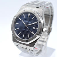 PETER LEE メンズ 自動巻腕時計 APスタイル 40mm ブルー/ブラック/ホワイト