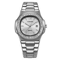 CURDDEN メンズ クォーツ腕時計 ノーチラスオマージュモデル ダイヤモンド全4カラー