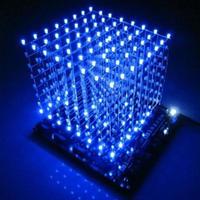 LEDキューブ 8×8×8 3D DIYキット ブルー