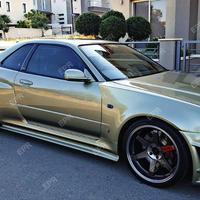 日産スカイライン BNR34 GT-R サイドステップ サイドスカートエクステンション 189cm ニスモスタイル  FRP