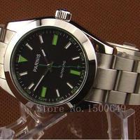 Parnis 40mm 自動巻き 機械式腕時計 メンズ サファイアクリスタル ステンレス E971