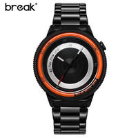 Break メンズ クォーツ腕時計 カジュアル 防水
