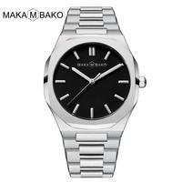 MAKAMBAKO D1ミラノ風 クォーツ腕時計 セイコー製ムーブ搭載 ウブロ・オーデマピゲ好きの方に