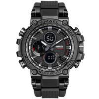 SMAEL クォーツ腕時計 ミリタリーウォッチ 選べる10カラー アナデジ サバイバル