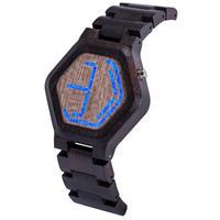 BOBO BIRD ボボバード 木製腕時計 ミニLED表示 日本製ムーブ搭載