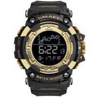 SMAEL クォーツ腕時計 海外で高評判 デジタル表示 サバイバル ミリタリーウォッチ 全8カラー