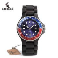 BOBO BIRD ボボバード 木製腕時計 ロレックススタイル クォーツ腕時計 ブラック/ベージュ