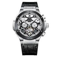 TEVISE メンズ 自動巻腕時計 49mmビッグデザイン 裏スケ シルバー/ローズゴールド/ゴールド