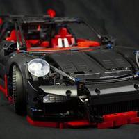 ポルシェ 911 GT3RS ブラック ビルディングブロックキット 箱なし