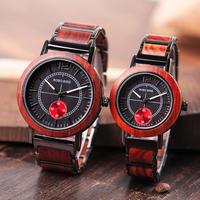 BOBO BIRD ボボバード 木製腕時計 クォーツ メンズ/レディースセット 43.7mm/36.1mm