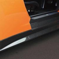 日産 R35 GT-R カーボンファイバーサイドスカート 光沢