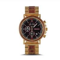 ボボバード BOBO BIRD メンズ クォーツ腕時計 クロノグラフ ゴールドモデル ミリタリースタイル