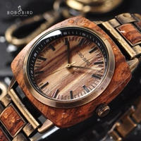 BOBO BIRD ボボバード メンズ 木製腕時計 ヴィンテージスタイル ウッド/レザーバンド