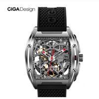 XIAOMI CIGA DESIGN Zシリーズ メンズ 自動巻腕時計 機械式 トノー型 ブラック/レッド/ブルー
