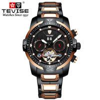 TEVISE メンズ 自動巻腕時計 スケルトン トゥールビヨンスタイル 全5カラー