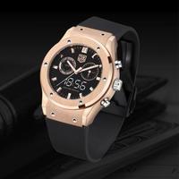 TVG メンズ クォーツ腕時計 ローズゴールド クロノグラフ