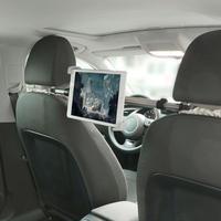 後部座席用タブレットホルダー 真ん中 ヘッドレスト iPad iPhone スマートフォン 360度回転 シングル