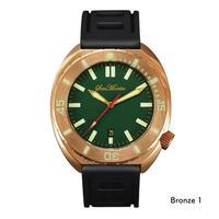 San Martin メンズ腕時計 ビンテージ 500m防水 ブロンズケース 自動巻