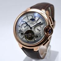 Caseno メンズ 自動巻腕時計 スケルトン 42mm 全4カラー