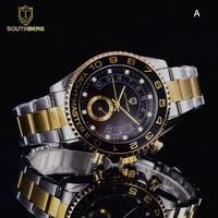 SOUTHBERG メンズ クォーツ腕時計 ヨットマスタースタイル 選べる14色