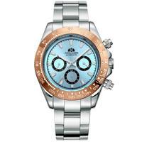 PAULAREIS メンズ 自動巻腕時計 コスモグラフデイトナオマージュモデル アイスブルーダイヤル 他5カラー