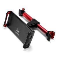 後部座席用タブレットホルダー  360度回転  iPadホルダー アルミニウム レッド/ブラック iPhone スマートフォン対応