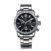 IK Colouring メンズ 自動巻腕時計 ブラック/ホワイト/ブルー 42.6mm