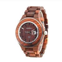 BEWELL 木製腕時計 クォーツ メンズ 47mm 全4カラー 日本製ムーブメント