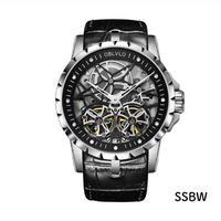 OBLVLO メンズ 自動巻腕時計 RDスタイル 51mm 全6カラー トゥールビヨンスタイルサファイアクリスタル